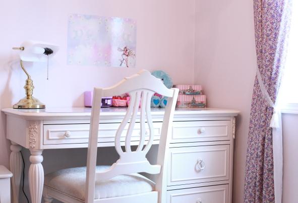 ホワイトデスク&チェア 白家具